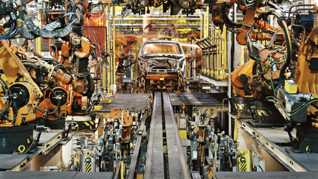โรงงานผลิตรถยนต์ในเมืองดีทรอยส์ สหรัฐอเมริกา ภาพจาก bloomberg.
