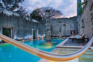 Hacienda Uayamon, Mexico เป็นสถานที่โบราณที่สร้างขึ้นตั้งแต่ปี 1700
