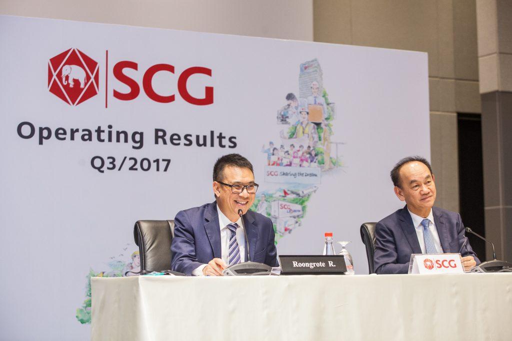 SCG แถลงผลประกอบการ 9 เดือนแรกปี 2560